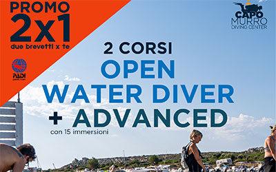 Padi Open Water Diver y Curso Avanzado
