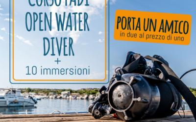 Corso Padi Open Water Diver per due persone